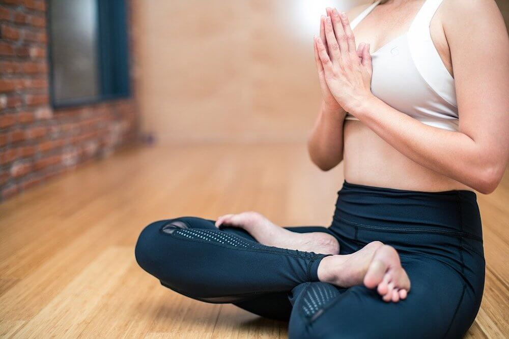 yoga practice woman