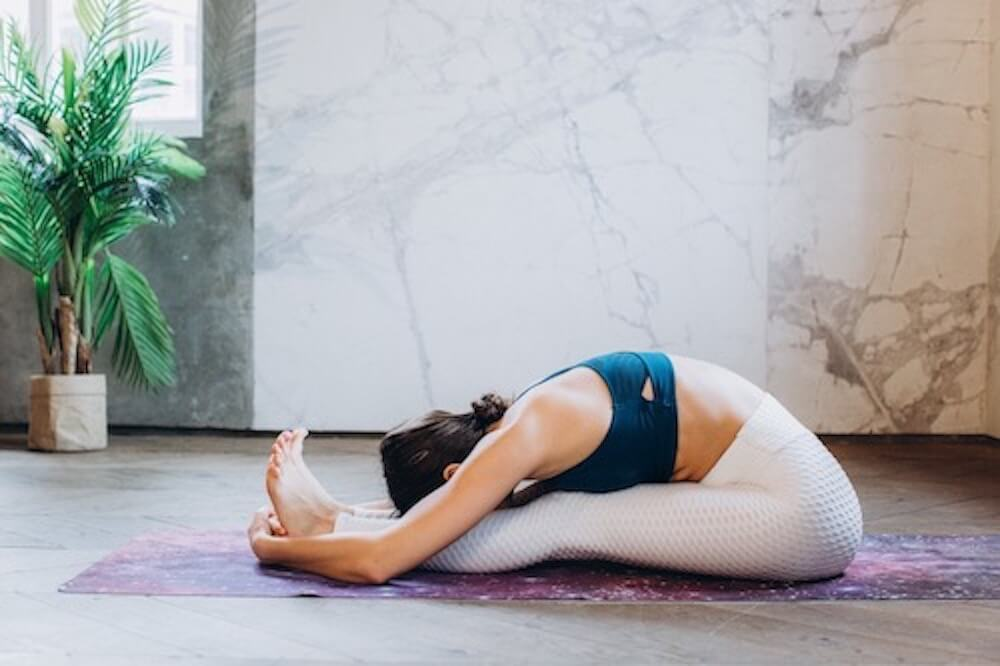 Woman holding a yoga pose