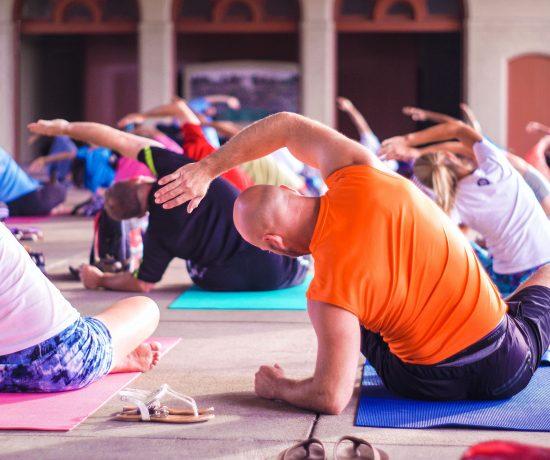 Students in a yoga teacher training